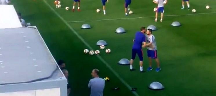 Oblak a retrouvé ses cages avec l'Atlético. Capture/Twitter/Atlético_MD