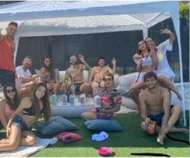 Les joueurs de Séville s'excusent pour leur fête illégale. Instagram