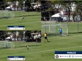 Ocurrió en un partido entre Chivas y Lobos BUAP Sub 17. Capturas/ChivasTV