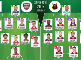 Official line-ups for the Europa League second leg between Arsenal and Ostersunds. BeSoccer