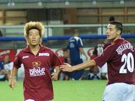 Oguro, durante un partido. Twitter