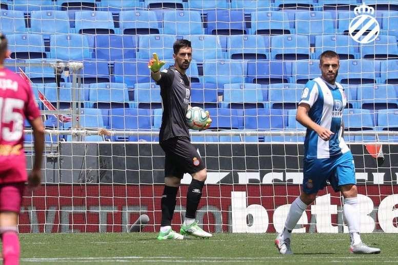 Oier podría jugar en Copa. Twitter/RCDEspanyol
