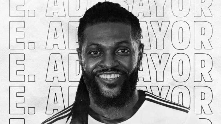 Image result for Images of Emmanuel Adebayor at Olimpia Club