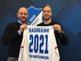Baumann alarga su relación con el Hoffenheim. TSG1899Hoffenheim