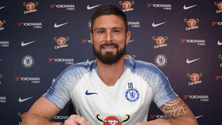 Giroud, hasta el 2020. Chelsea