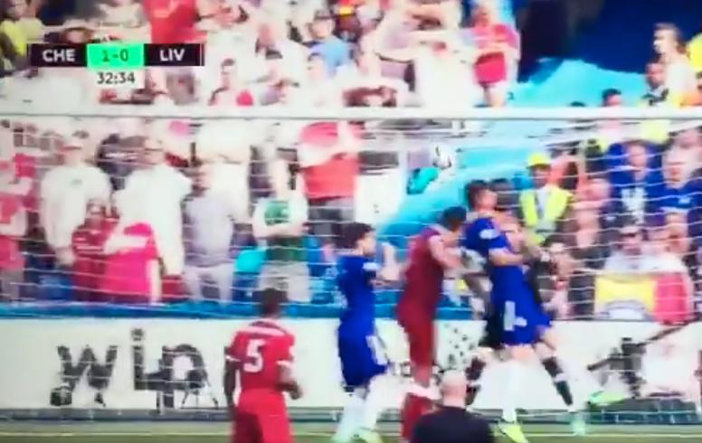 Giroud a ouvert le score pour Chelsea. Capture