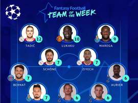 La UEFA ha elegido a los once mejores de la semana. Twitter/ChampionsLeague