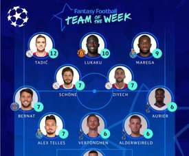 O time da semana de Champions. Twitter/ChampionsLeague