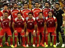 La sélection syrienne. FIFA