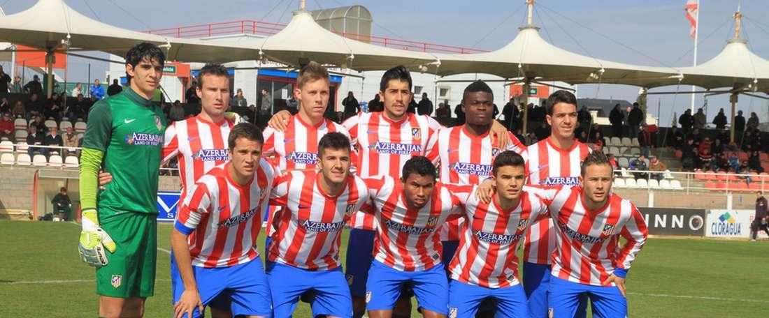 Once del Atlético B. ClubAtléticodeMadrid
