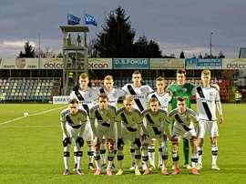 Once del Legia juvenil ante el Real Madrid. LegiaWarsaw