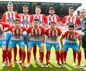 Pelegrín, en propia puerta, Campillo e Igor Martínez fueron los goleadores. ARCHIVO / CDLugo