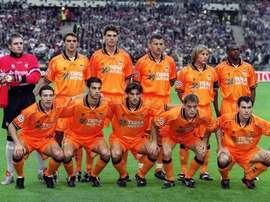 Once del Valencia en la final de la Champions del 2000. UEFA