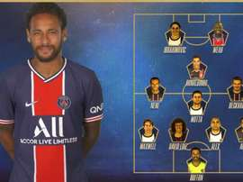 Neymar Choose his historic XI. Twitter/PSG_espanol