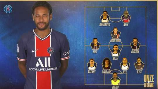 Neymar Choose his historic XI. Twitter/PSG_espanol