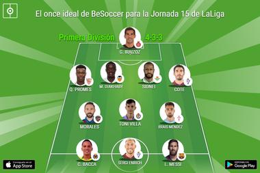 Los más destacados de la Jornada 15 de Primera División. BeSoccer