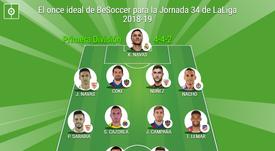 Once ideal BeSoccer de la Jornada 34 de LaLiga 2018-19. BeSoccer