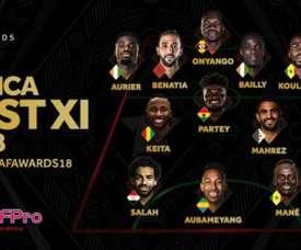 Dez jogadores atuam na Europa. CAF