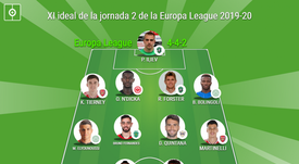 El XI ideal de la jornada 2 de la Europa League. BeSoccer