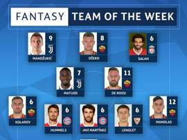 The Champions League Team of the Week for the quarter-final second-legs. Twitter/ChampionsLeague