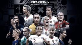 Once ideal femenino de la FIFA 2019. Twitter/FIFA_com