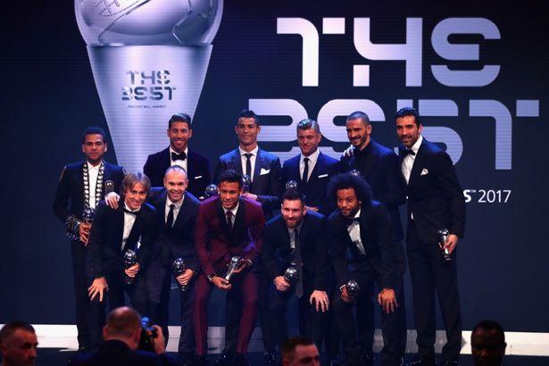El once ideal de 2017, tan plagado de estrellas como siempre. FIFA