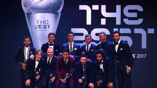 El once ideal del pasado año. FIFA