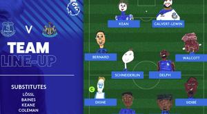 El Everton y el Newcastle empataron. Twitter/Everton
