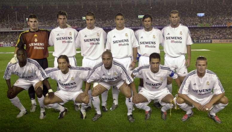 Le onze type du Real Madrid des Galactiques. EFE