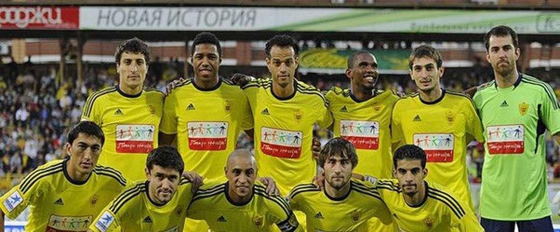Once titular del Anzhi. AltasPulsaciones