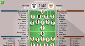 Onces del Albacete-Almería. BeSoccer