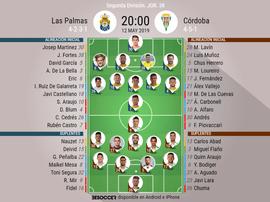 Onces confirmados del Las Palmas-Córdoba. BeSoccer