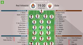 Onces confirmados del Valladolid-Elche. BeSoccer