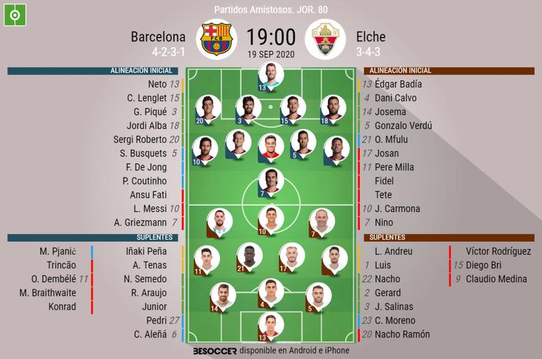 Sigue el directo del Barça-Elche. EFE