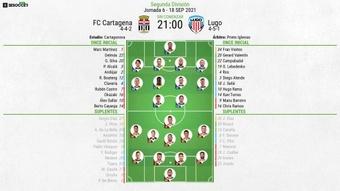 Cartagena y Lugo llegan empatados a seis puntos. LaLiga/Archivo