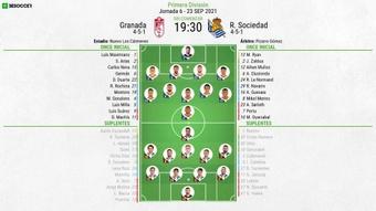 El Granada-Real Sociedad, en directo. BeSoccer