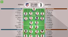 Sigue el directo del Atlético de Madrid-Juventus. BeSoccer