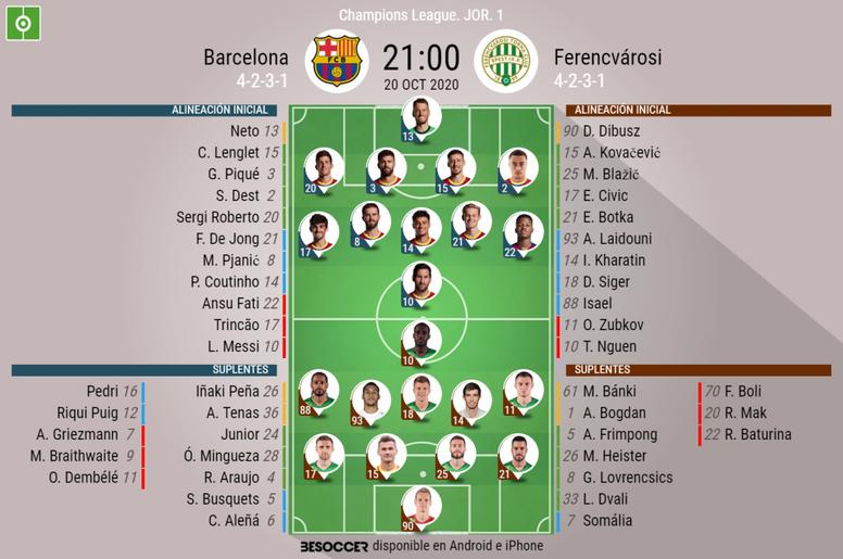 Barcelona-Ferencvaros. BeSoccer