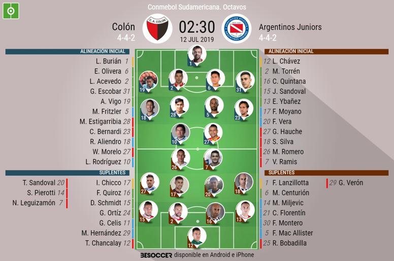 Sigue el directo del Colón-Argentinos Juniors. BeSoccer