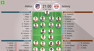 El Atlético-Salzburgo , en directo. BeSoccer