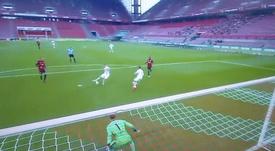 Köln y Eintracht empataron a uno. Captura/MovistarLigadeCampeones