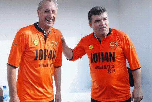 Cruyff y Onésimo coincidieron en el Barcelona por decisión del holandés. Ajuntament de Sitges