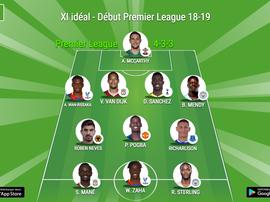 Onze idéal du retour de la Premier League 18-19. BeSoccer