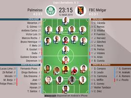 Onze Palmeiras - Melgar Libertadores. BeSoccer