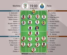 Onzes do Marítimo - Porto,j32 Liga Portuguesa 17/18. BeSoccer