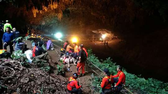 Un buzo español ayudó en el rescate de los niños en Tailandia. AFP