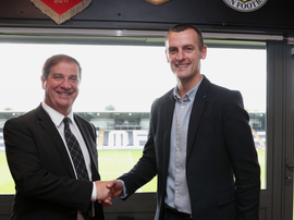 Oran Kearney was named St Mirren manager. Twitter/saintmirrenfc