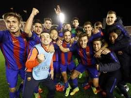 El filial del Barcelona avanza a buen ritmo en la MIC. OriolBusquets / ARCHIVO