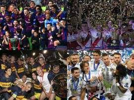 La 'top 10' delle squadre con più titoli internazionali. EFE/AFP