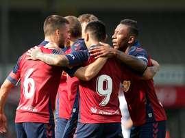 Osasuna logró su segunda victoria en Holanda, esta vez ante el De Graafschap. Twitter/CAOsasuna